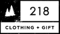 218 Clothing Gift Logo