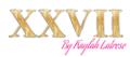 XXVII LASHESSMETICS Logo