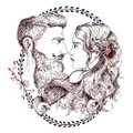 Beard And Lady Logo