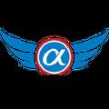 Blue Alpha Gear Logo