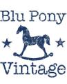 Blu Pony Vintage USA Logo