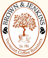 Brown & Jenkins - The Vermont Coffee Roasters USA Logo