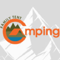 Family Tent Camping Logo
