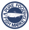 Pure Food Fish Market Logo
