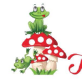 Frogs and Toadstools Logo