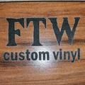 FTW Custom Vinyl logo