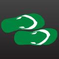 Green Flip Flops Logo