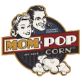 Mom and Popcorn Logo