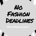 No Fashion Deadlines Logo