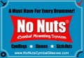 No Nuts Cymbal Sleeves Logo