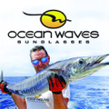 Ocean Waves Sunglasses USA Logo