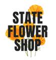 State Flower Shop Logo