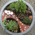 Two Green Thumbs Miniature Garden Center Logo