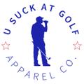 U Suck At Golf Logo
