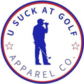 U Suck At Golf Logo