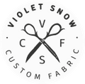 Violet Snow Custom Fabric Logo