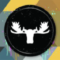 White Moose Logo