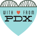 With Love, From Pdx Logo