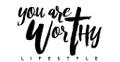 You are Worthy Lifestyle USA Logo